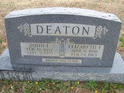 Elizabeth F Lizzie <i>Tilley</i> Deaton