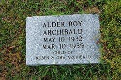 Alder Roy Archibald