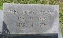 Vera <i>Hobby</i> Boswell