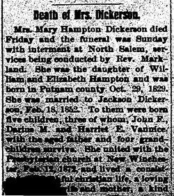 Mary Jane <i>Hampton</i> Dickerson