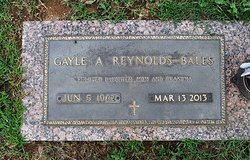 Gayle Ann <i>Reynolds</i> Bales