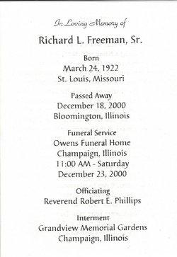Richard Leroy Freeman