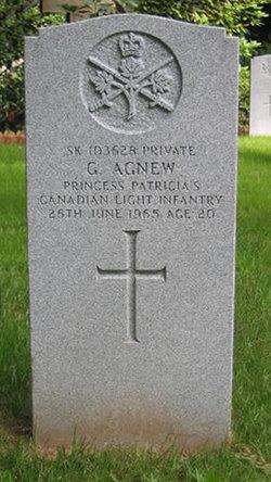 Pvt Gordon Agnew