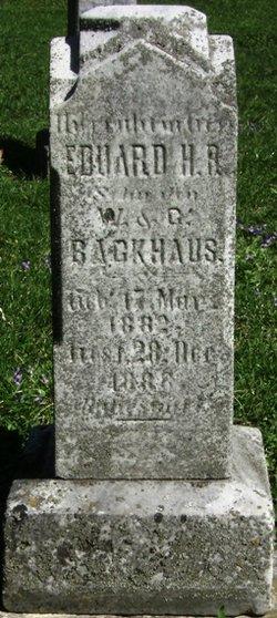 Edward H. R. Backhaus