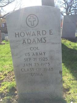 Col Howard Edward Howie Adams