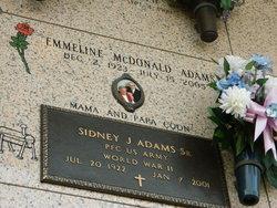Emiline Margaret <i>McDonald</i> Adams