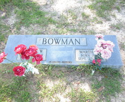 Martha Ellen Mat <i>Denson</i> Bowman