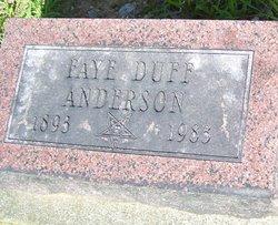 Faye <i>Duff</i> Anderson