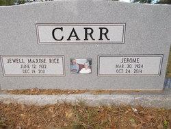 Jewell Maxine <i>Rice</i> Carr