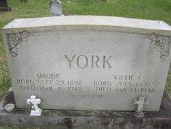 Willie A York