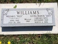 Lucina Frances Lucy <i>Abrams King</i> Williams