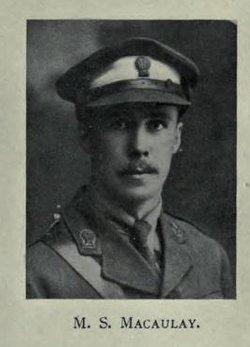 Second Lieutenant Maxwell Stanley Macaulay