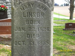 Mary Ann <i>Selsor</i> Linson