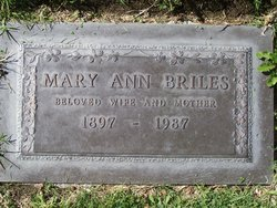 Mary Ann <i>Martin</i> Briles