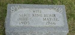 Alice <i>King</i> Blair