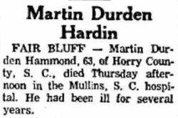 Martin Durden Hammond, Sr