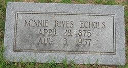 Minnie <i>Rives</i> Echols