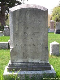 Hannah E. W. <i>Thompson</i> Bartlett