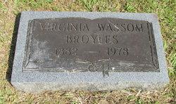 Virginia Jennie <i>Wassom</i> Broyles