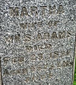 Martha <i>Russell</i> Adams