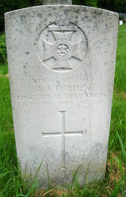 Rifleman Ronald John Burden