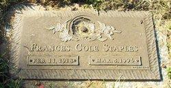 Frances <i>Cole</i> Staples