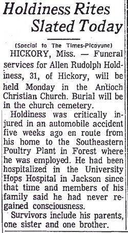 Allen Rudolph Holdiness