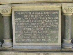 Benjamin F Thompson