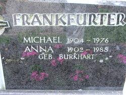 Anna <i>Burkhart</i> Frankfurter