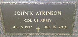 Col John K. Jack Atkinson