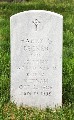 Harry G Becker