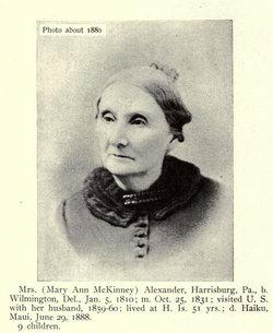 Mary Ann <i>McKinney</i> Alexander