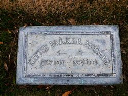Katherine Schell Kittie <i>Parker</i> McCabe