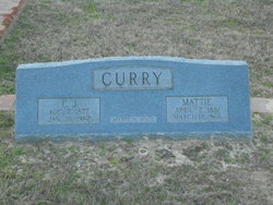 Mattie Edna <i>Dailey</i> Curry