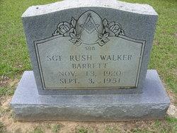 Sgt Rush Walker Barrett