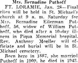 Bernadine A. <i>Eilerman</i> Puthoff