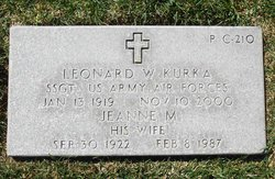Sgt Leonard William Kurka