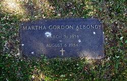Martha <i>Gordon</i> Albondy