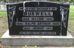 Jennie Rose <i>Zebarth</i> Buswell
