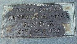 Infant Son Blalock
