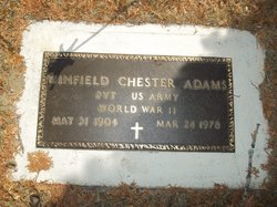 Pvt Winfield Chester Adams