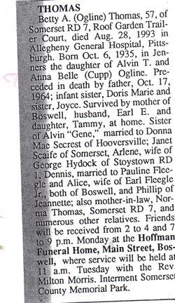 Betty Ann <i>Ogline</i> Thomas