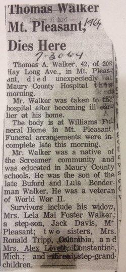 Thomas A. Tom Walker