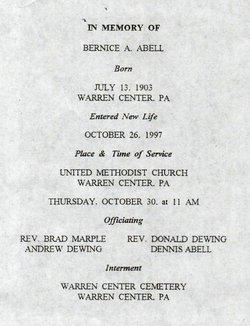 Bernice Ann <i>Pendleton</i> Abell