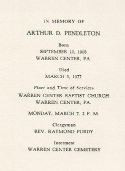 Arthur D Pendleton