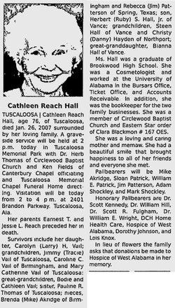 Cathleen <i>Reach</i> Hall