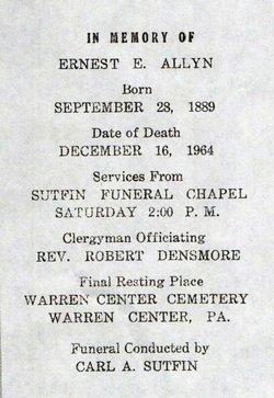 Ernest Eugene Allyn