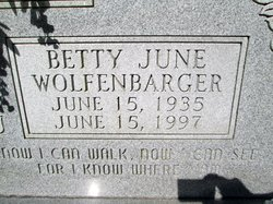 Betty June <i>Wolfenbarger</i> Coffey
