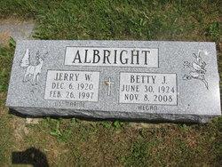 Betty Jane <i>Hegan</i> Albright