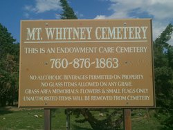 Mount Whitney Cemetery
